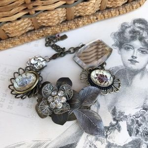 Jewelry - Vintage Inspired Assemblage Bracelet